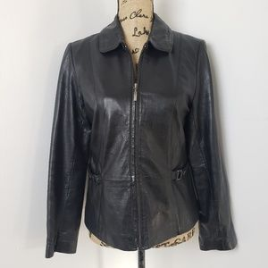 STYLE & CO. Womans 100% Genuine Leather Jacket